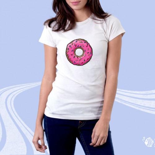 """Женская футболка с принтом """"Пончик"""""""