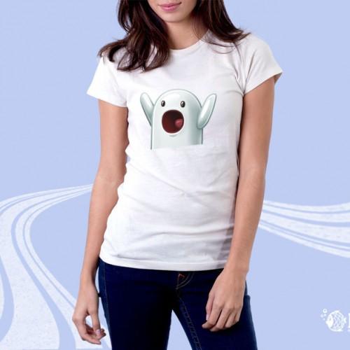 """Женская футболка с принтом """"Крик"""""""