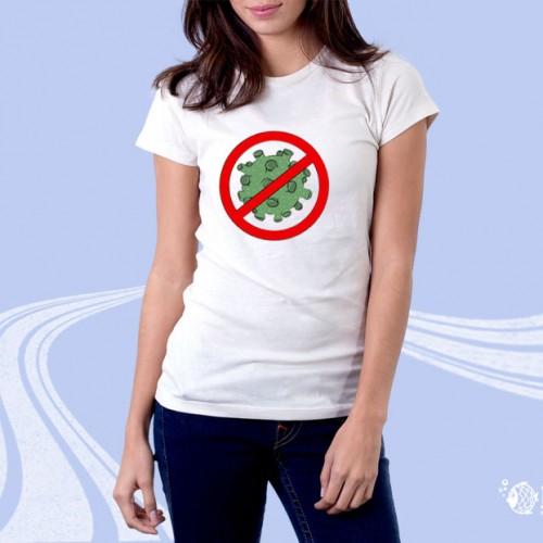 """Женская футболка с принтом """"Нет короновирусу"""""""