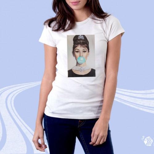 """Женская футболка с принтом """"Шарик из жвачки"""""""