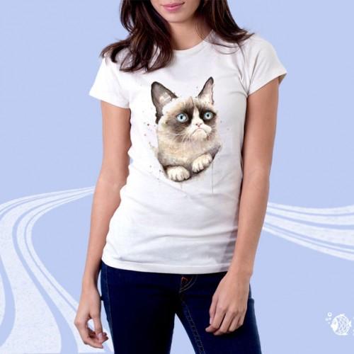 """Женская футболка с принтом """"Кошка"""""""