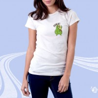 """Женская футболка с принтом """"Пока"""""""