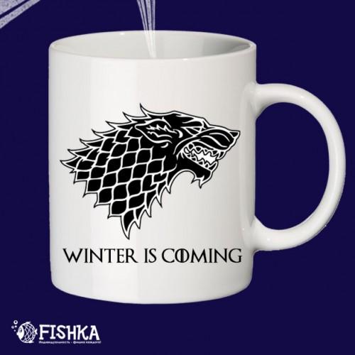 """Чашка с принтом """"Winter is coming"""""""