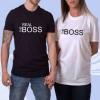"""Парная футболка с надписью """"The Real Boss"""""""