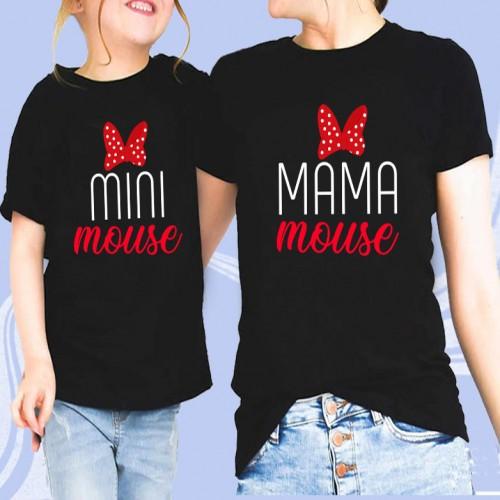 """Парные футболки для мамы и дочки """"Мини мама"""""""