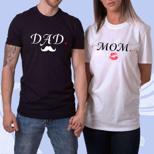 """Парные футболки """"DAD - MOM"""""""