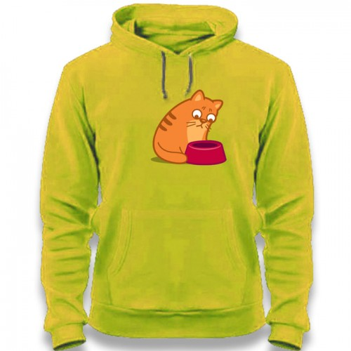 """Худи с принтом """"Голодный кот"""""""