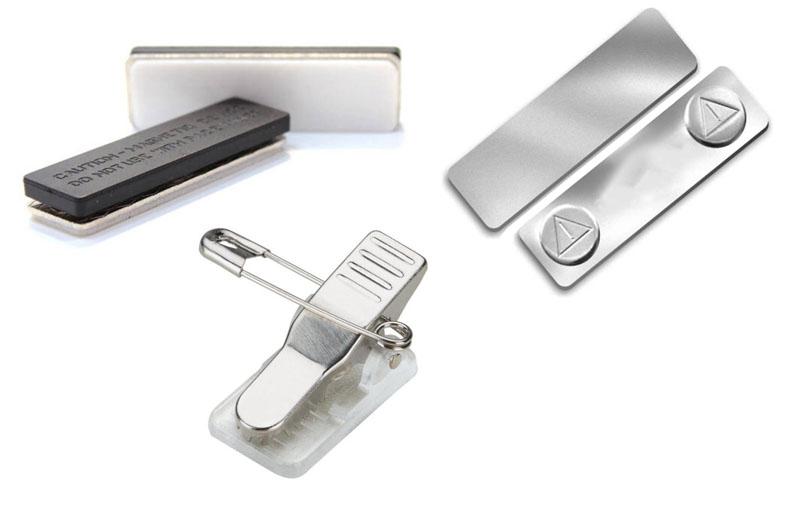 Заказать металлический бейдж на застежке и магните